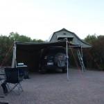 Camping at Stokes Inlet