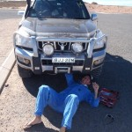 Mechanic Dav...fixing some loose bits after corrugated roads