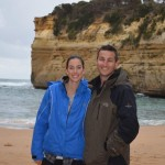 Us down in Loch Ard Gorge - amazing to get down and feel the power of the ocean pumping into the tight gorge