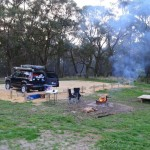 Our campsite at Hammond Rd, inland from Aireys Inlet. Nothing special but neat and tidy and close to the Great Ocean Road