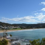 Looking back towards Lorne, a lovely beach town on the Great Ocean Rd