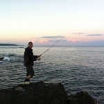 A spot of evening fishing at Blanket Bay