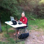 Daves bush internet cafe - laptop, ipad and iphone!