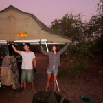 Setting up camp, Kakadu