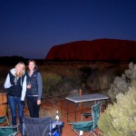Sunset viewing at Uluru (Ayers Rock)