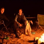 Campfire in the Finke River