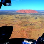 Chopper flight over Uluru