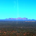 Chopper flight over Uluru - looking towards Kata Tjuta (The Olga's)