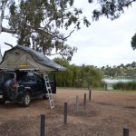 Camping on the side of the Murray