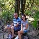 Dad & Tara, Charlie Moreland camping area