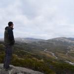 Dave eyeing off Mt Kosciusko