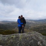 Dave & Tee in front of Kosciuszko