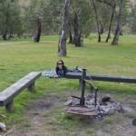Tara relaxing at the Victoria Falls camp site