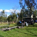 More camp site preparation - Victoria Falls