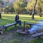 Chilling around the fire - Victoria Falls