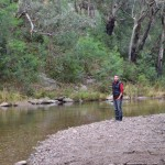 The river next to our Upper Dargo camp at Black Flat