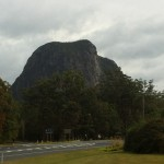 The challenge looks daunting - Climbing Mt Tibrogargan. Do you see the face of an aboriginal man?