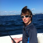 Hamish fishing on the Gold Coast