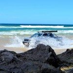 Fraser Island - getting around the rocky point between beaches
