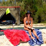 Tara at Sandy cape camp site - Fraser Island
