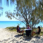 Lunch time at Sandy Cape - Fraser Island