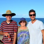 Dad, Mum and Dave at Fraser Island