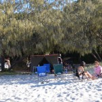 Inskip Point camping, mainland near Fraser Island