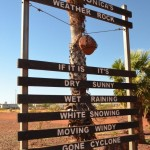 The Pannawonica weather rock, The Pilbara