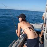 "Tara reeling in a 'Mack"" - Spanish Mackeral, Gnylmarung, Dampier Peninsula WA"