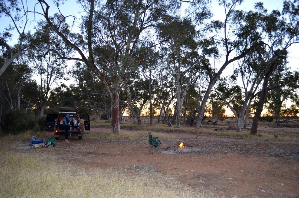 Camping at Redbank Waterhole