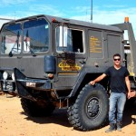 The Simpson Desert recovery vehicle in Birdsville (luckily we didn't need it!)