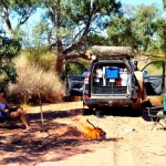lunch stop in a river near Cordillo Downs
