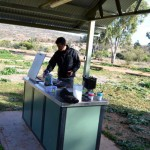 Mutawintji National Park - cooking breaky