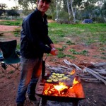 Mutawintji National Park - cooking dinner