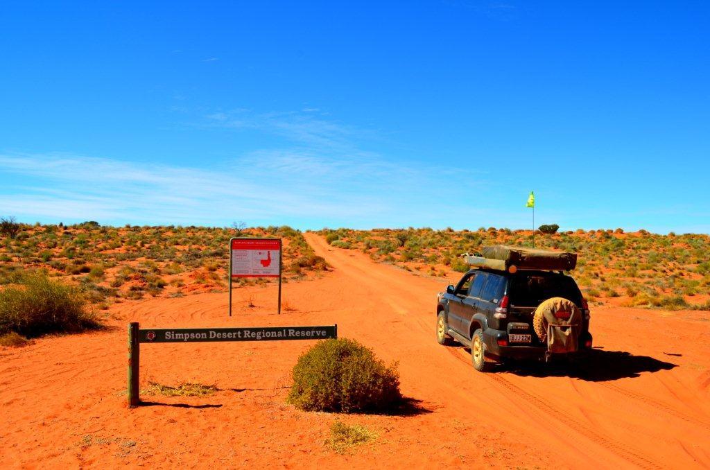Entering the Simpson Desert