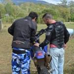 Dave & Ash preparing for a ride