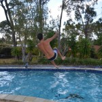 Dave getting wild at Mick and Shelley's on the Gold Coast