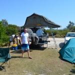 Pat and Dave - camping at Bunjalung National Park