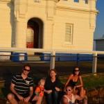 Jules, Jack, Gabi, Pat and Tara at Cape Byron lighthouse