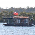 A funky houseboat at Tea Gardens
